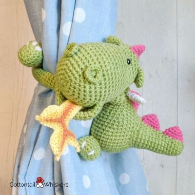 Amigurumi Baby CrochetDragon Tiebacks Pattern by Cottontail and Whiskers