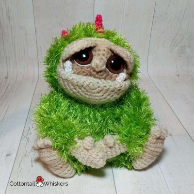 Amigurumi Baby Doll Gremlin Crochet Pattern by Cottontail and Whiskers