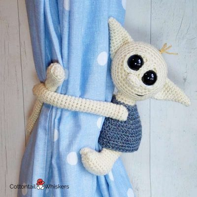 Amigurumi Baby House Elf Tie Backs Crochet Pattern by Cottontail and Whiskers