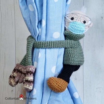 Amigurumi Bernie Sanders Mittens Meme Crochet Pattern by Cottontail and Whiskers