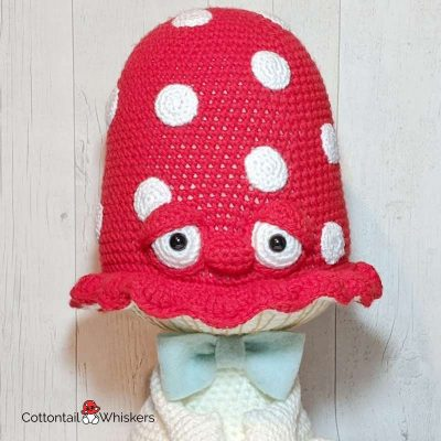 Amigurumi BIG Toadstool Doll Crochet Pattern Sherman by Cottontail and Whiskers