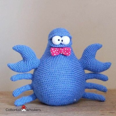 Amigurumi Crochet Crab Doorstop Pattern by Cottontail and Whiskers