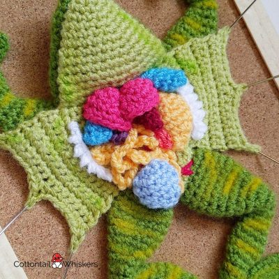 Amigurumi crochet frog dissection pattern by cottontail and whiskers