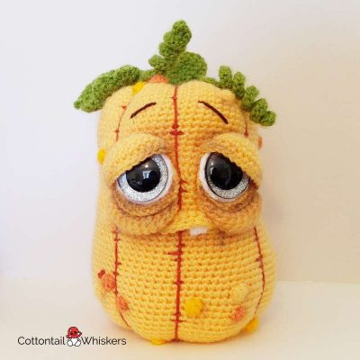 Amigurumi crochet pumpkin pattern lurch doll by cottontail and whiskers