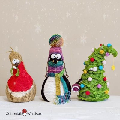 Amigurumi Door Stop Christmas Crochet Patterns BUNDLE by Cottontail and Whiskers