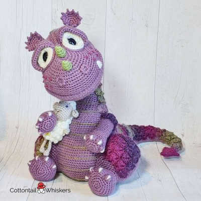 Amigurumi Dragon Crochet Pattern Dougal by Cottontail and Whiskers