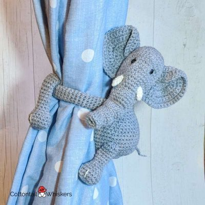 Amigurumi Elephant Tie Backs Crochet Pattern by Cottontail and Whiskers