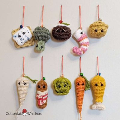 Amigurumi Food Christmas Tree Crochet Patterns BUNDLE by Cottontail and Whiskers