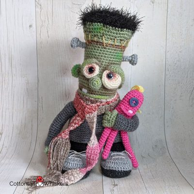 Amigurumi Frankenstein Monster Crochet Pattern by Cottontail and Whiskers