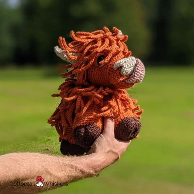 Amigurumi highland cow crochet pattern by cottontail and whiskers