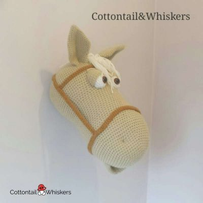 Amigurumi Horse Head Crochet Pattern by Cottontail and Whiskers