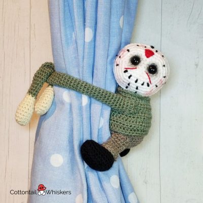 Amigurumi Jason Crochet Tiebacks Pattern by Cottontail and Whiskers