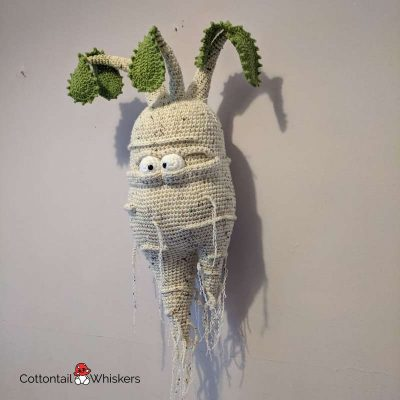 Amigurumi Mandrake Doll Crochet Pattern by Cottontail and Whiskers
