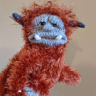 Amigurumi monster tie backs crochet pattern ludo by cottontail and whiskers