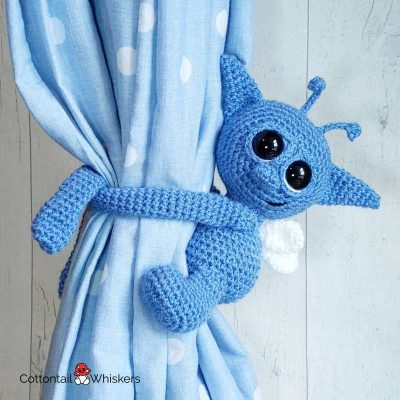 Amigurumi Pixie Tie Backs Crochet Pattern by Cottontail and Whiskers