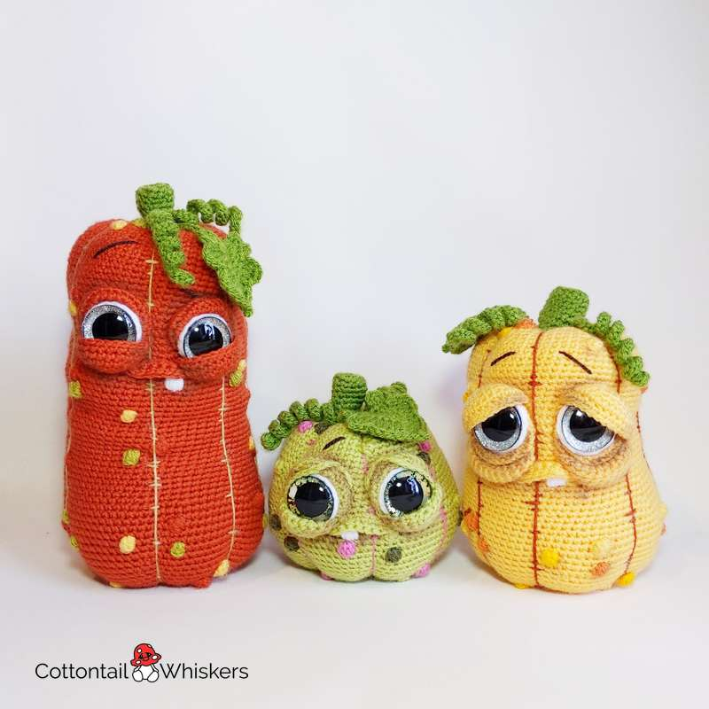 Pumpkin patch amigurumi pumpkin crochet patterns by cottontail and whiskers