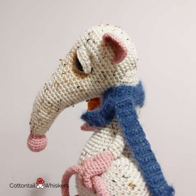 Amigurumi rat crochet pattern atticus by cottontail and whiskers