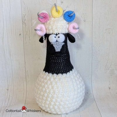 Amigurumi Sheep Door Stop Crochet Pattern by Cottontail and Whiskers