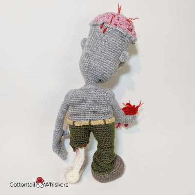 Amigurumi valentines zombie crochet pattern zed by cottontail and whiskers