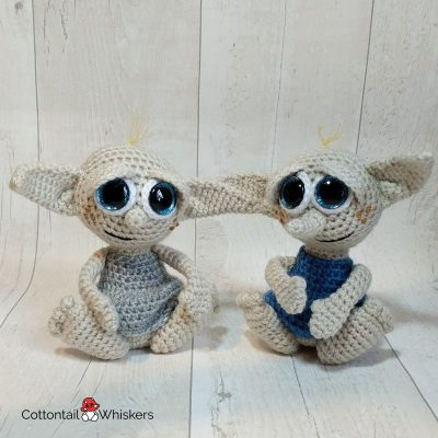 Baby House Elf Doll Crochet Pattern by Cottontail and Whiskers
