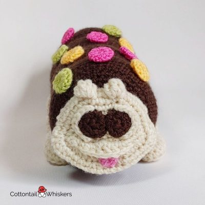 Caterpillar cake amigurumi crochet pattern by cottontail and whiskers