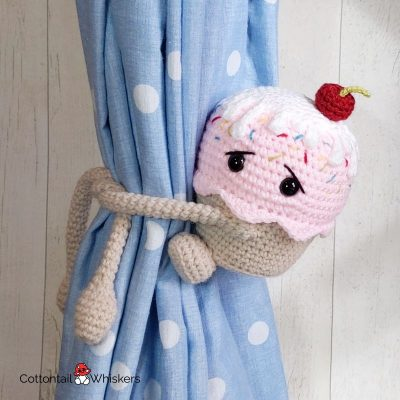 Curtain TiebacksAmigurumi Crochet Cupcake Pattern by Cottontail and Whiskers