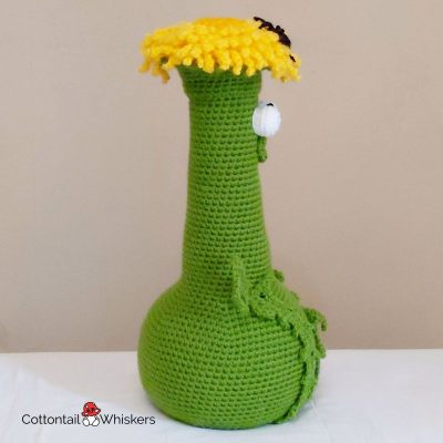 Crochet dandelion doorstop profile at cottontail and whiskers