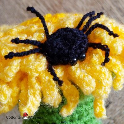Dandelion doorstop crochet pattern by cottontail and whiskers
