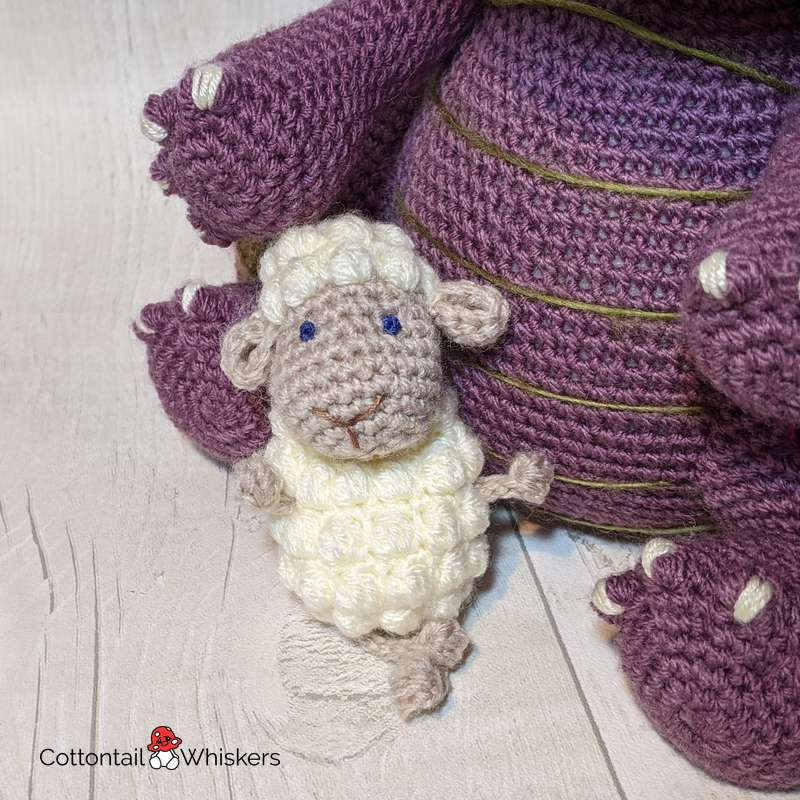 Floof the amigurumi sheep doll crochet pattern by cottontail and whiskers