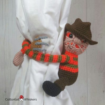 Freddy Krueger Holdbacks Crochet Pattern by Cottontail and Whiskers