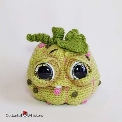 Gomez doll amigurumi pumpkin crochet pattern by cottontail and whiskers