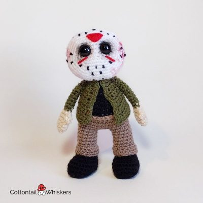 Horror Amigurumi Crochet Jason Doll Pattern by Cottontail and Whiskers