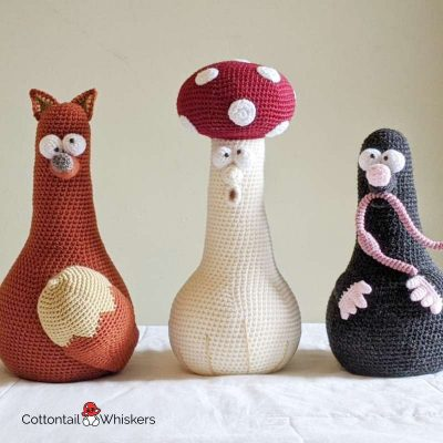 Meadow Door Stop Crochet Patterns BUNDLE by Cottontail and Whiskers