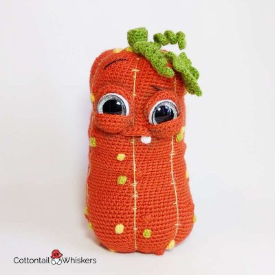 Pumpkin amigurumi crochet pattern herman doll by cottontail and whiskers