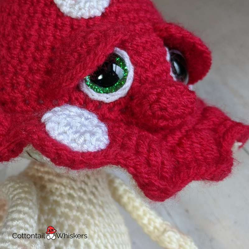 Stanley the icon amigurumi mushroom crochet pattern by cottontail and whiskers