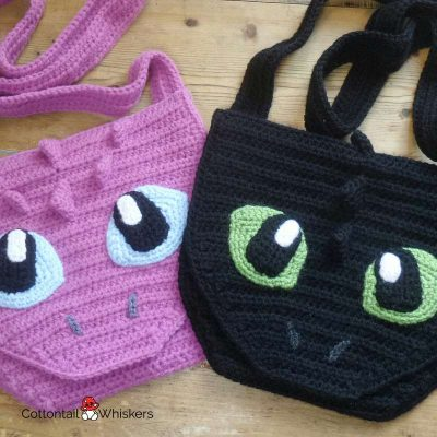 Toothless Dragon Bag Crochet Pattern by Cottontail and Whiskers