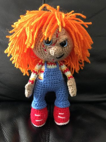 Amigurumi Chucky Doll Crochet Pattern Review by Kim for Cottontail & Whiskers