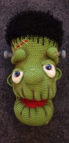 Amigurumi Frankenstein Crochet Pattern Crafter Review by Debra Tomlinson for Cottontail and Whiskers