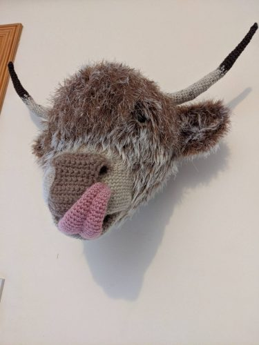 Amigurumi Highland Cow Crochet Crafters Review for Cottontail and Whiskers by Emma Urquhart