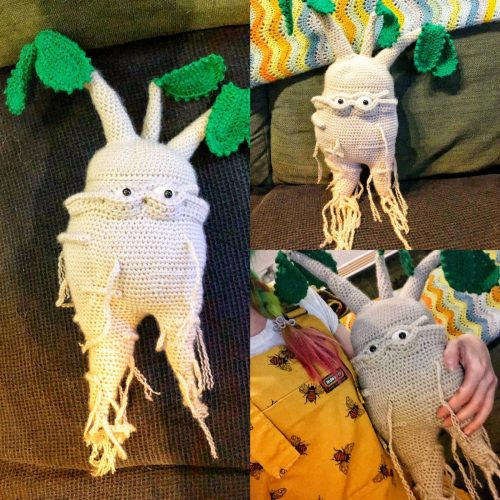 Amigurumi mandrake crochet pattern review by vanessa jones for cottontail and whiskers