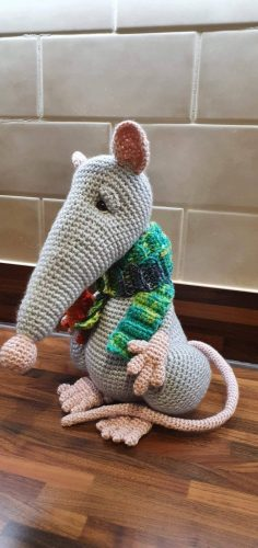 Atticus Rat Crochet Pattern Review for Cottontail and Whiskers by Kim Cartwright
