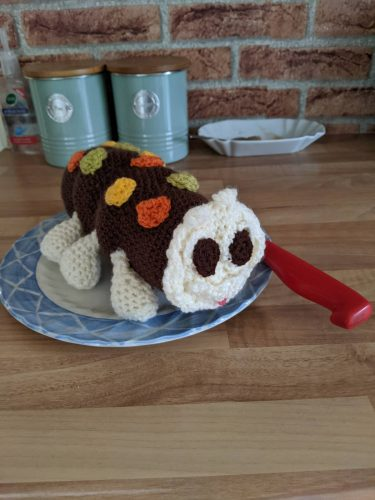 Colin Caterpillar Crochet Pattern Photo Review by Janet Armstrong for Cottontail and Whiskers