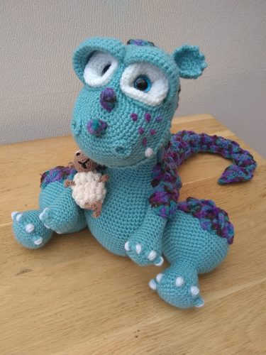 Cottontail Whiskers dragon crochet pattern crafters review by Tina Hughes