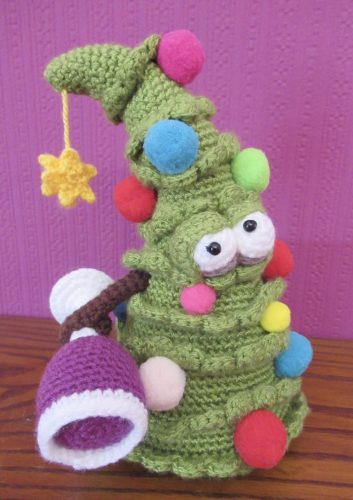 Crochet Christmas Tree Amigurumi Pattern Review by Andrea Walker for Cottontail and Whiskers