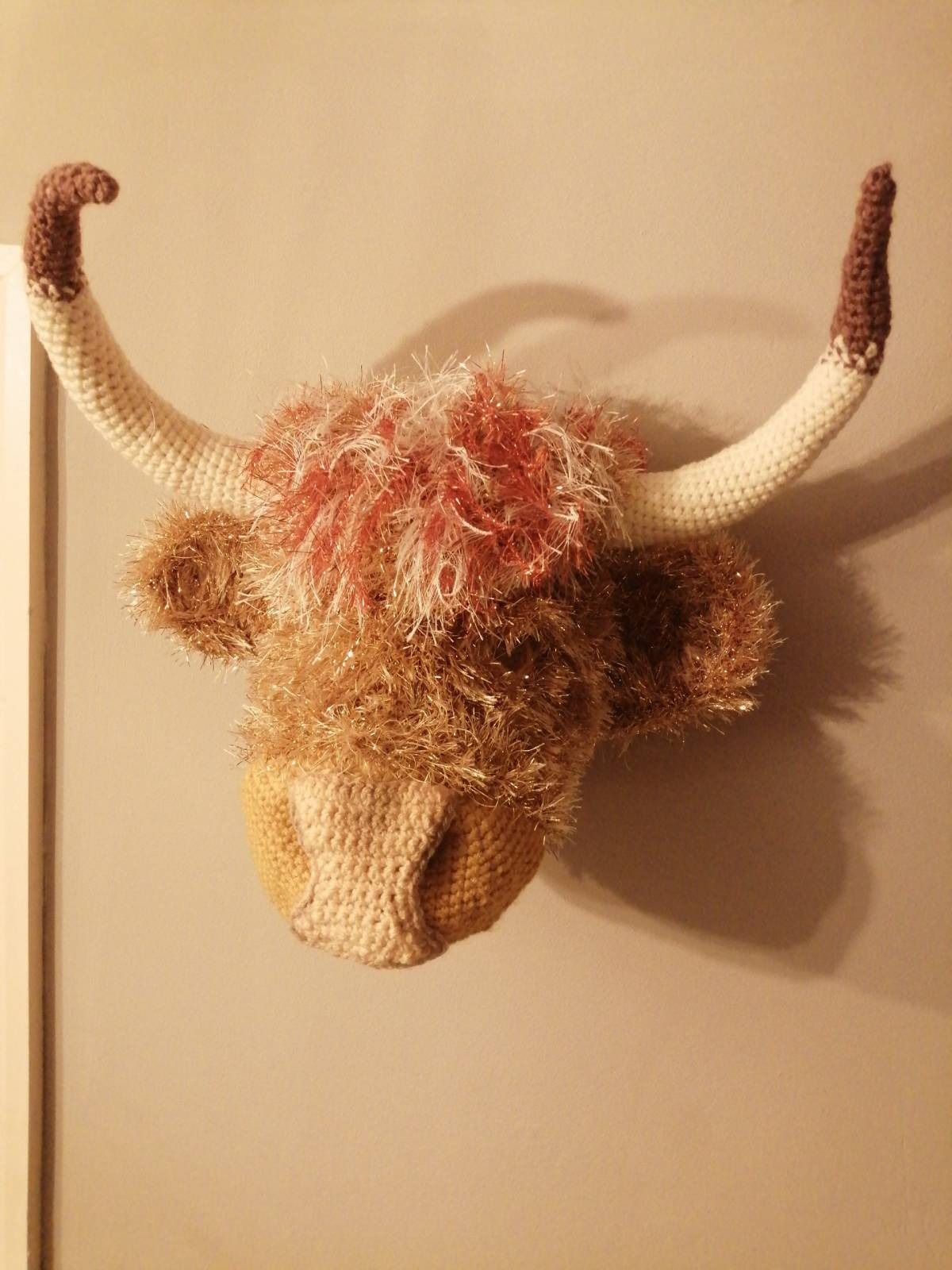 Crochet Highland Cow Amigurumi Pattern Crafters Review for Cottontail and Whiskers by Debbie Crawley