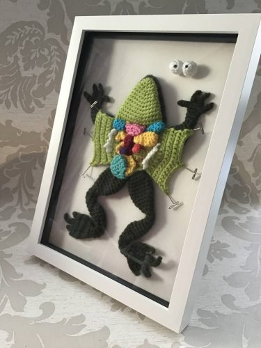 Dissected Frog Crochet Pattern Review by Alison Peters for Cottontail and Whiskers