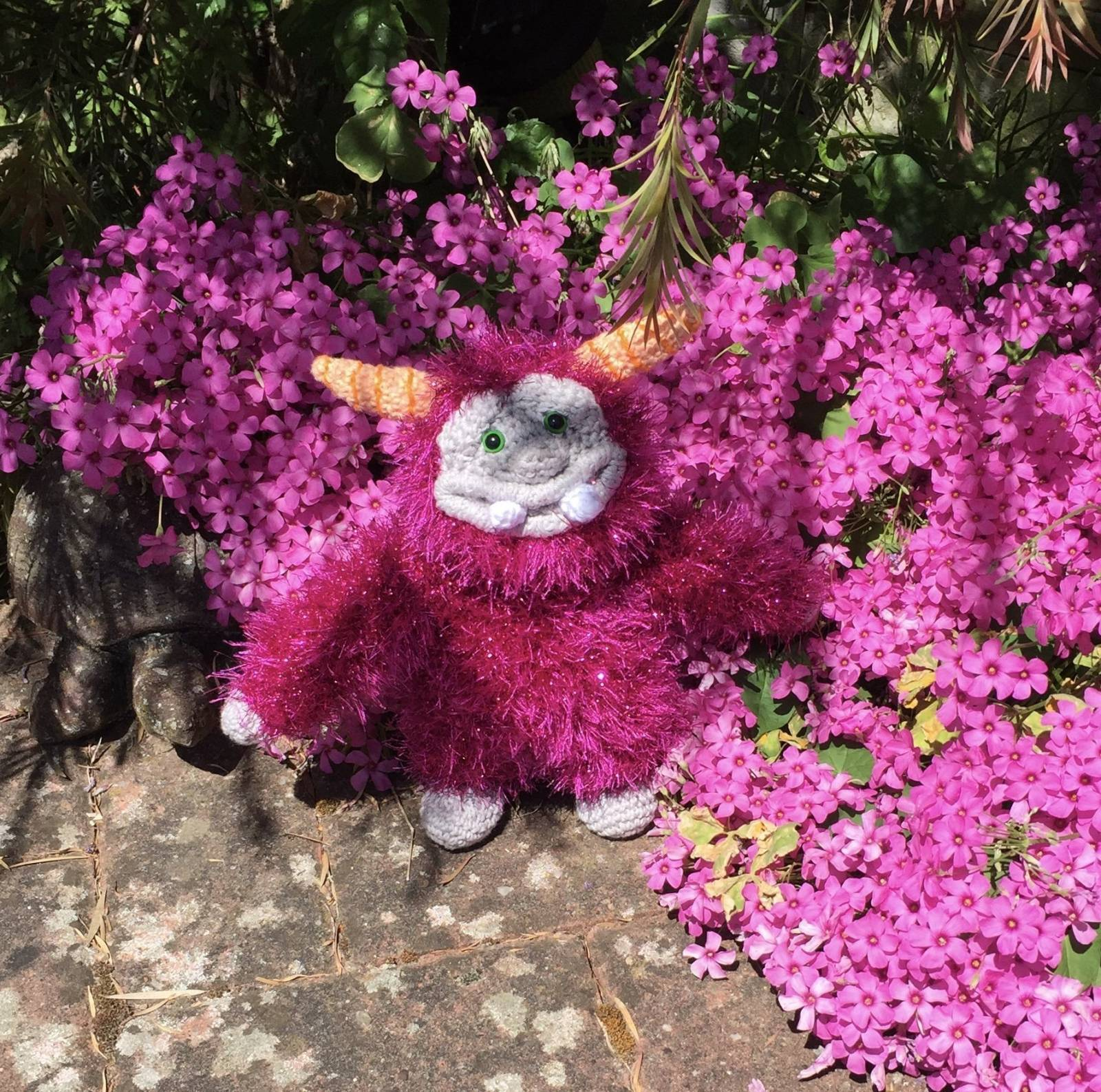 Fluffy Crochet Monster Pattern Review for Cottontail and Whiskers by Hayley Crane