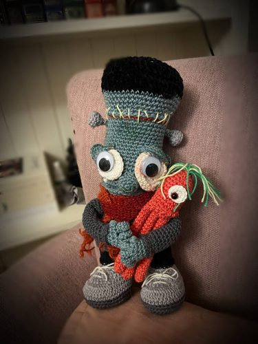 Frankenstein amigurumi doll crochet pattern review by terri giri for cottontail & whiskers