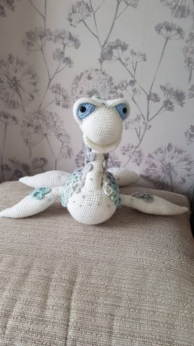 Loch Ness Monster Crochet Pattern Review for Cottontail and Whiskers by Mrs Hawes