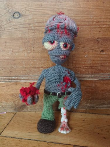 Valentine Amigurumi Crochet Zombie Pattern Review by Steph Laird for Cottontail and Whiskers